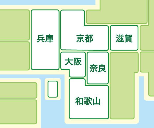 近畿地方の地図